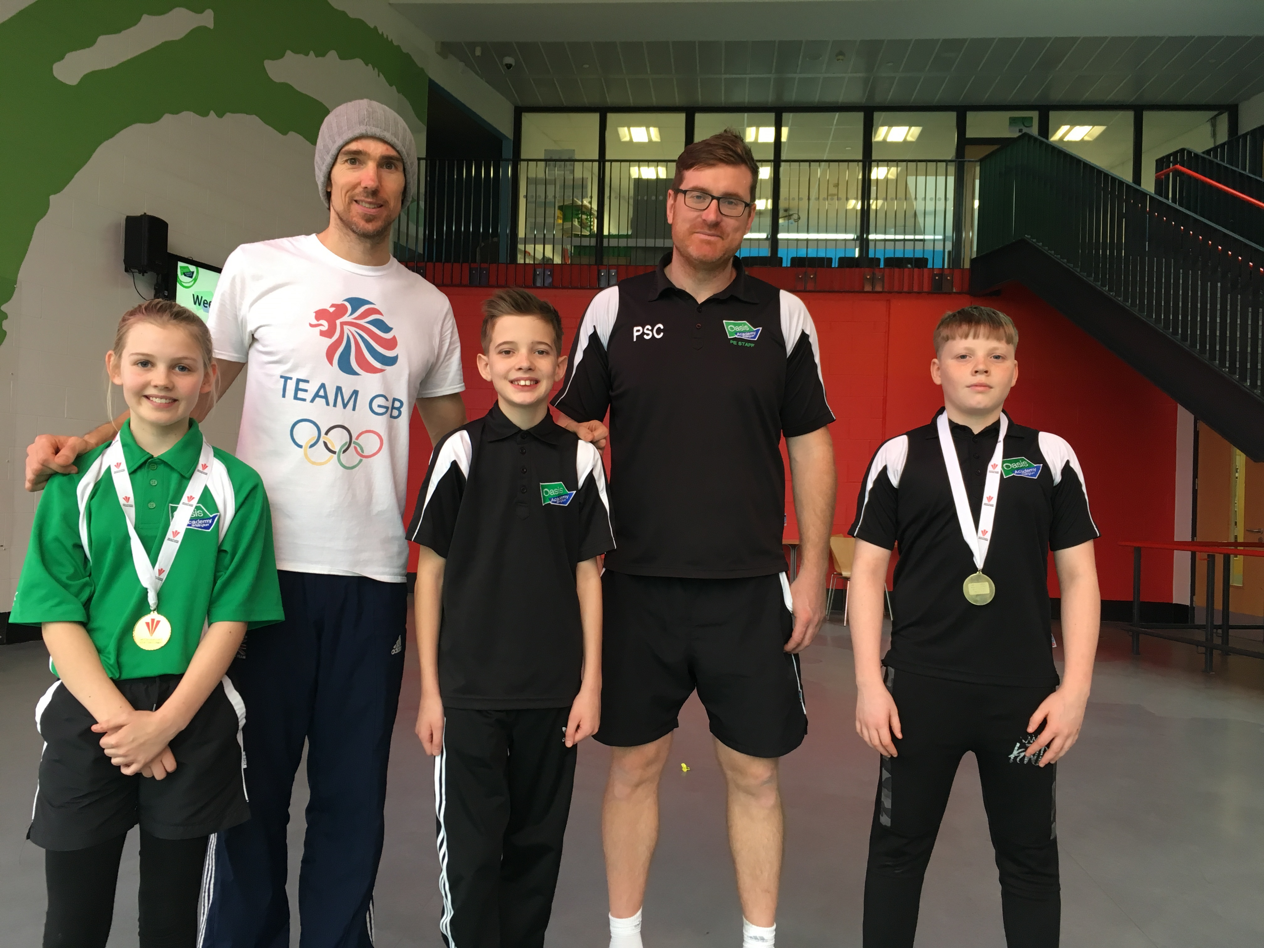 Team GB high jumper visits Oasis Academy Brislington