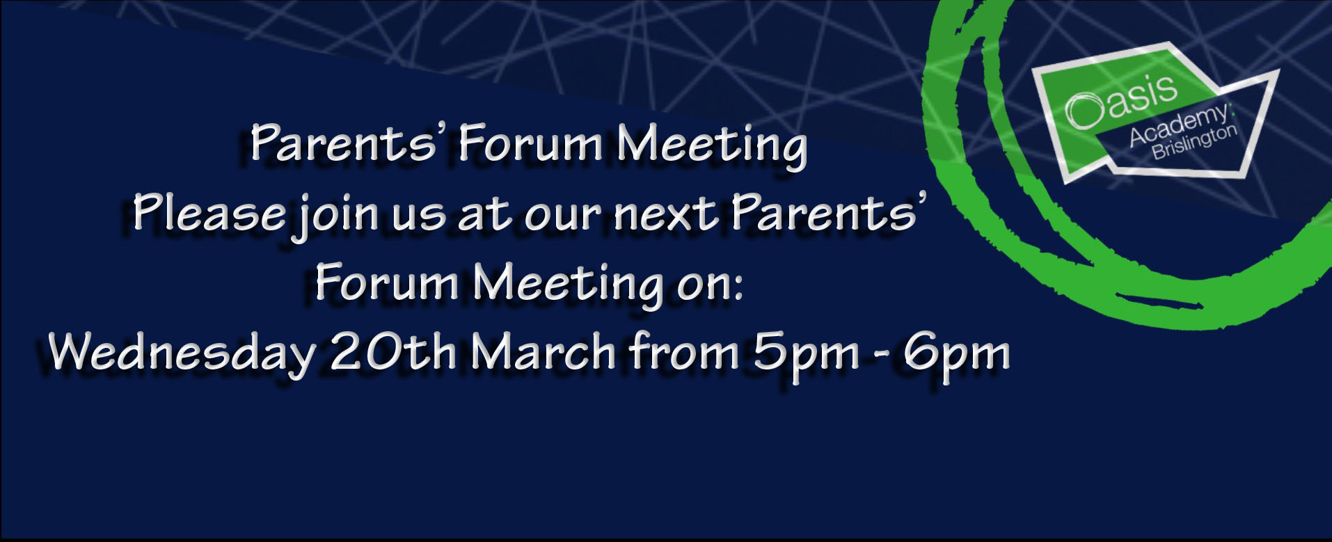 PARENTS' FORUM MEETING